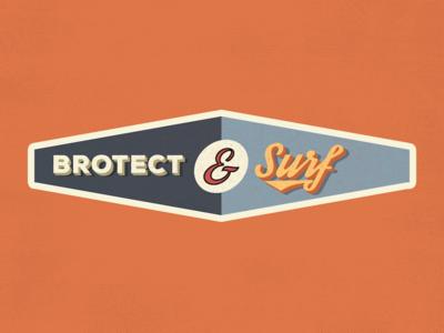 Brotect & Surf Sticker