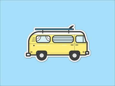 VW Surf Bus Sticker