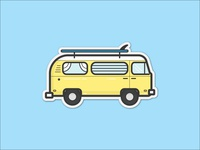 VW Surf Bus Sticker