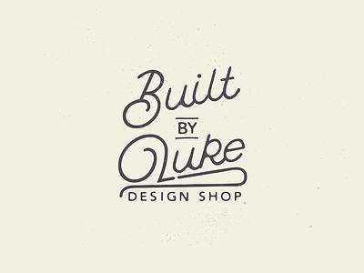 New Logo for my Design Shop badge brand logo type hand drawn vector illustration builtbyluke