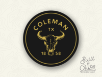 Coleman Texas Sticker