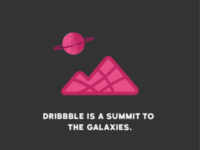 Illustration   Dribbble is a summit to the Galaxies stickermule sticker builtbyluke planet galaxy summit mountain illustration dribbble