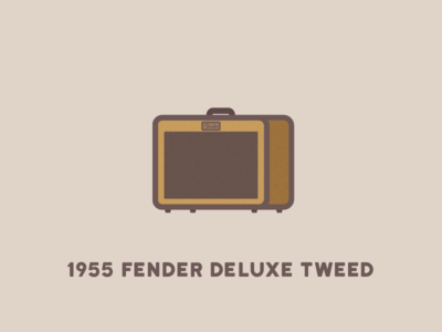 1955 Fender Deluxe Tweed this is: builtbyluke icon design 1955 flat guitar fender amp illustration