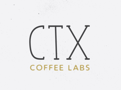 CTX Coffee Logo black and white stipple speckled vintage texture lab coffee illustration design builtbyluke