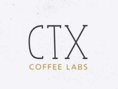 CTX Coffee Logo black and white stipple speckled vintage texture lab coffee illustration design builtbyluke