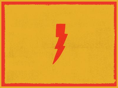 Hand Drawn Illustration: Lightening Bolt