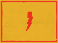 Hand Drawn Illustration: Lightening Bolt