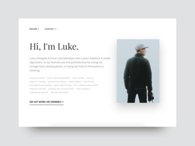 New Website builtbyluke clean simple black white ux website design product ui
