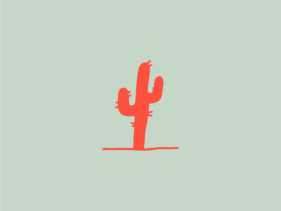 Look Mom! A red cactus! builtbyluke hand drawn illustration cactus