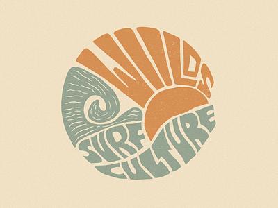 Wiilds Surf Culture retro brand identity procreate typography vintage graphic design badge illustration logo branding