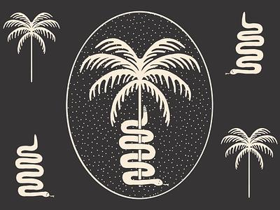 Snake Badge icon hand drawn procreate vector print retro tattoo design branding badge illustration design