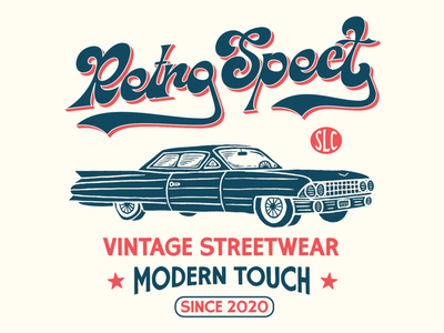 RetroSpect signage car design handlettering brand identity apparel retro typography vintage graphic design badge logo illustration branding