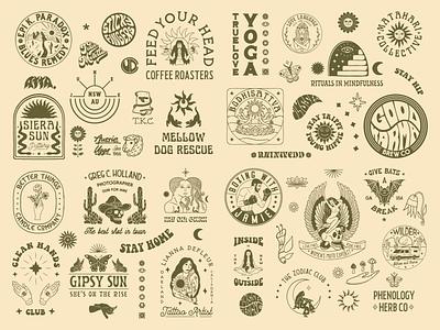 2020 Round Up retro hand drawn brand identity typography vintage graphic design badge logo illustration branding