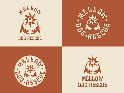 Mellow Dog Rescue Rebrand apparel retro brand identity typography vintage graphic design badge logo illustration branding
