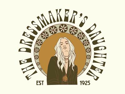 The Dressmaker's Daughter Branding, Print and Apparel Design hand drawn apparel retro typography vintage badge graphic design logo illustration branding