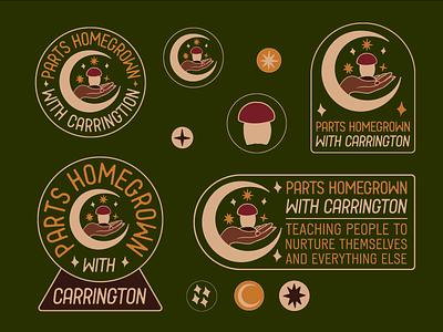 Vegan Lifestyle Blog Branding for Parts Homegrown procreate hand drawn brand identity typography graphic design badge logo illustration branding