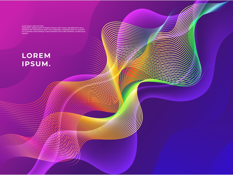 Rainbow Abstract Wave Background webdesign wallpaper motion geometric digital illustration backdrop colorful modern rainbow lines wave vector background abstract