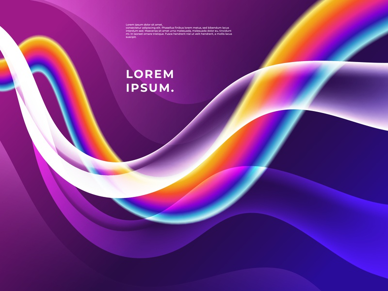 Rainbow Flowing Colorful Shapes Background, Vector Illustration. rainbow glow flow digital illustration branding backdrop wave modern fluid colorful web design illustration business background vector abstract