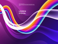 Rainbow Flowing Colorful Shapes Background, Vector Illustration.