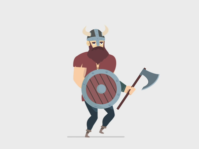 Viking motiongraphics after effects viking adobe character animation motion design motion illustrator illustration animation 2d animation