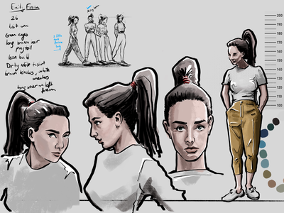 Character Design Based on Audrey Hepburn