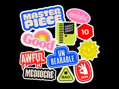 Review Score Stickers ign branding design branding video games nintendo nes cute review videogames stickers
