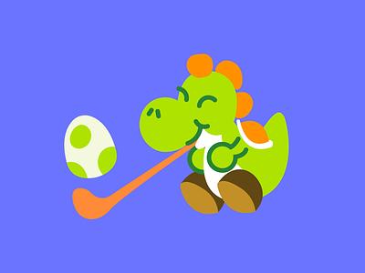 Yoshi Eats Egg videogame mario egg yoshi