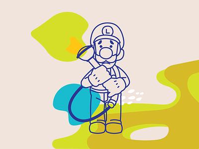 Luigi super mario mario video games nintendo luigis mansion blobs abstract luigi