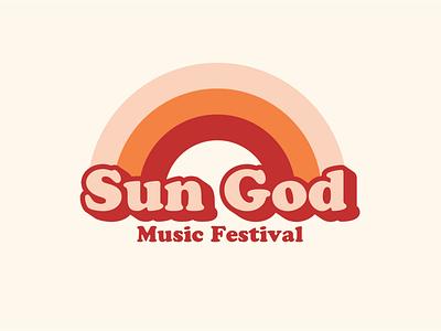 Sun God Rainbow vintage retro music festival festival sgf sun god