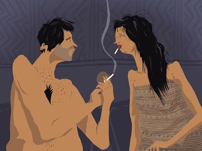 Cigarette after... sex smoke tobacco draw smoking cigarette digitalart characterdesign procreate illustration artwork