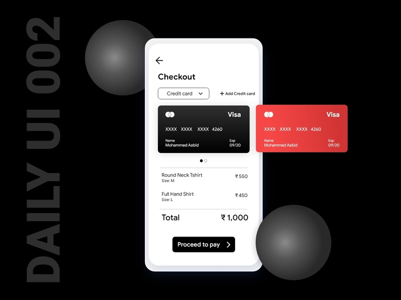 Daily UI Challenge 002 - Credit Card Checkout ecommerce payments credit card checkout checkout creditcard 100daychallenge daily 100 challenge dailyuichallenge dailyui