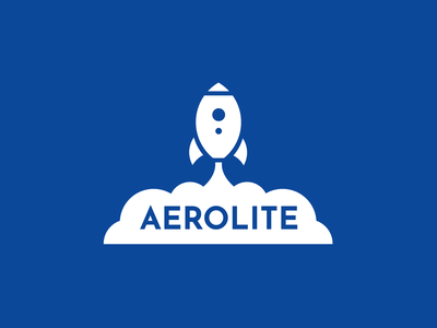 Aerolite illustration typography vector branding rocket rocketship space logo adobe illustrator