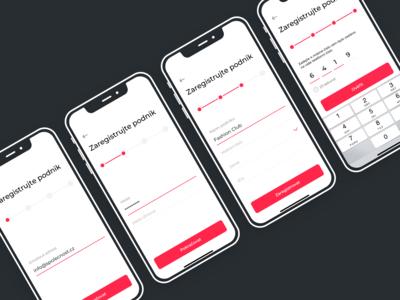 Registration for mobile appication Skivy