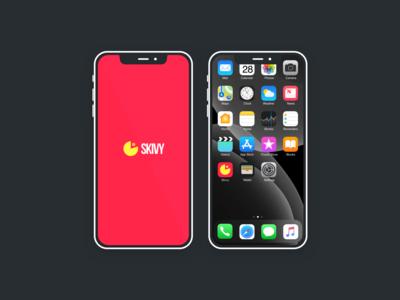 Splash screen & Icon for mobile app Skivy