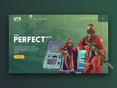 GTA 5 design header gaming game template gaming website gta5 gtav