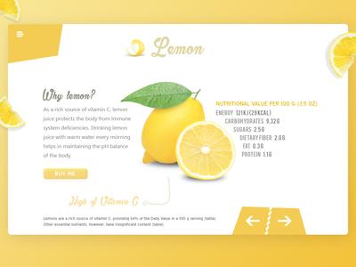 Lemon - Pure happiness fruit lemons design template vitamin yellow tea lemon