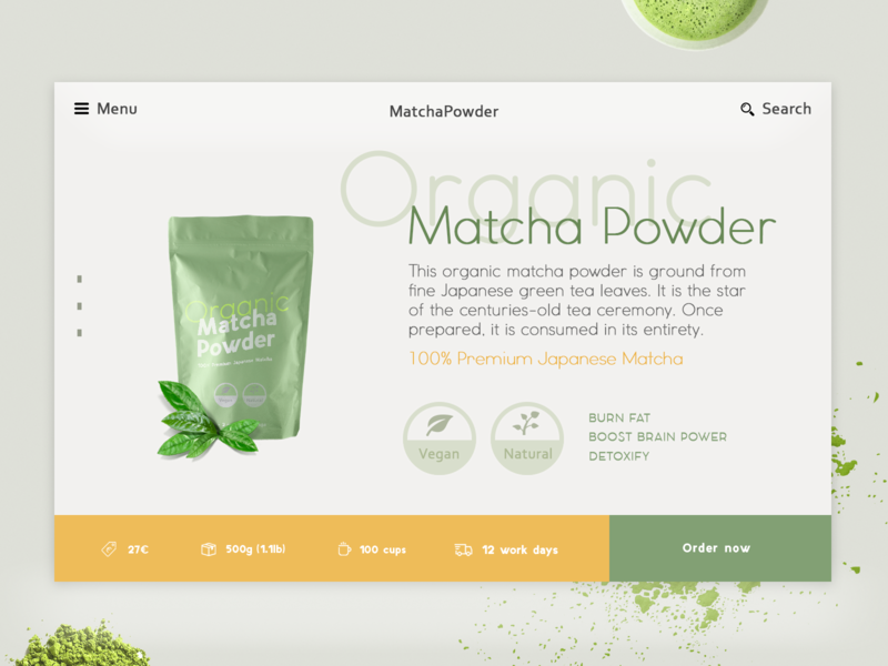 Matcha The Green Healthy Powder