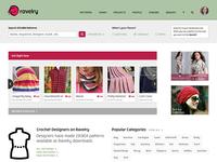 Ravelry Patterns Landing Page