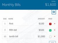 Bill Management App