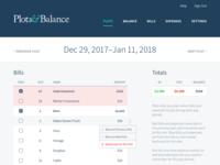 Budget App Plots