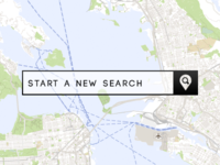Search box overlay on map