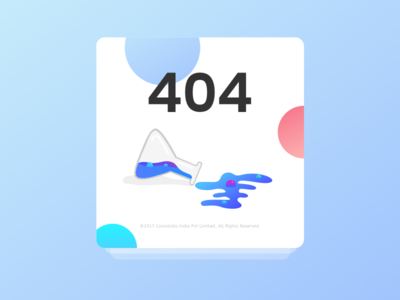 404 illustration | The messed up conical flask bubbles flask colors sweet error conical flask 404