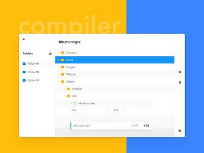 Compiler - A sketch plugin to organize your project files file folder design tool project compiler sketch plugin