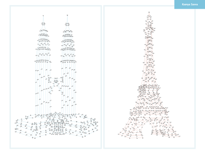 Dot-to-dot numbers game for adult. Eiffel Tower. Petronas Towers landmark world france malaysia numbers game for adult connect the dots dot to dot kuala lumpur petronas paris eiffel tower activity education vector adobe illustrator for kids illustration cartoon