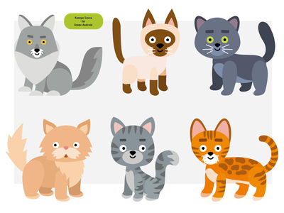 Set of cute cartoon cats for sticker activity book clipart color home breed domestic pet book stickers set cats cute activity animal vector adobe illustrator children character for kids illustration cartoon