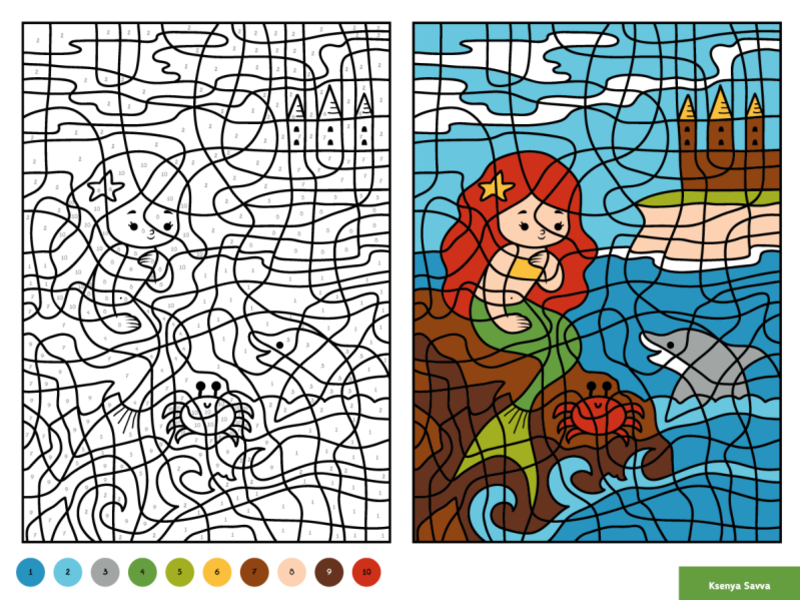 Little Mermaid Coloring Pages For Kids - Little Mermaid Coloring ...   600x800
