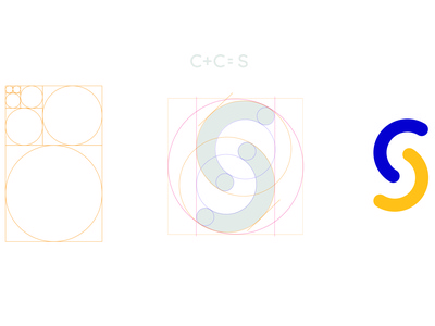 Complete version in designing a simple letter S logo.