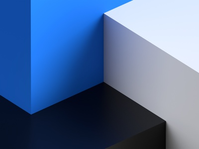 Abstract Cubes - 4K Wallpaper wallpaper geometry white abstract blue and white black blue cubes dimension adobedimension adobe 3d design graphic design