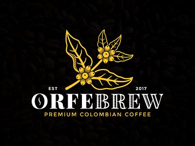 Coffee Logo branding logo design colombian coffee premium gold black brown roasters roast coffee