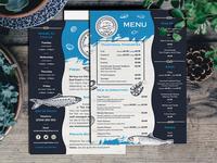 Fish Bar A5 Menu Flyer